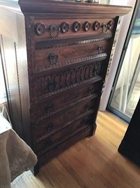 Very tall Eastlakehigh boy chest of drawers (rare)