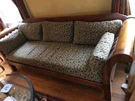 Hickory Chair sofa with gorgeous William Morris print cushions.