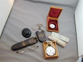 Pocket Watches & Eyeglasses