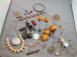 Assorted Sterling & Costume Jewerly