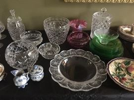 More Cut Glass including Waterford
