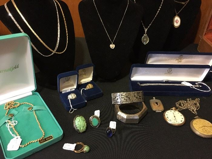 Fine Jewelry, Estate Jewelry, Pocket Watches, Native American Sterling, Antique Jewelry, Gold Chains