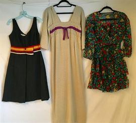"""60s Feraud, Rudi Gernreich """"Obi Dress"""" 1960s ( in the Metropolitan Collection), Silk Guy Laroche strapless"""