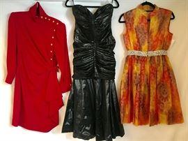 80s Ungaro, amazing Wet Look 80s Etienne Brunel - Paris Couture Evening Gown!, Malcolm Starr