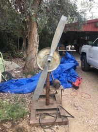 Large fan with motor