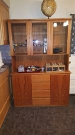 Mobican Teak Canadian China Cabinet