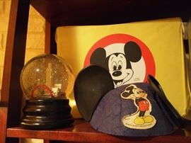Mickey stuff, Austin Snow globe w/ bats!