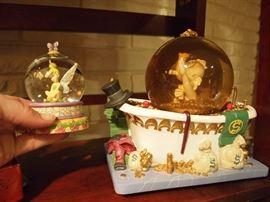 Scrooge McDuck globe & Tinkerbell globe