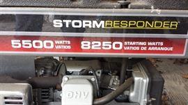 Briggs and Stratton Storm Responder 5500 Watt 8250 Portable Generator