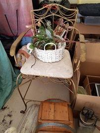 Brass Wire Accent chair