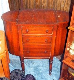 "Martha Washington Style Three Drawer Sewing Cabinet, 28.5""T x 26.5""W x 14""D"