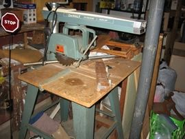 Dewalt Radial Arm Saw.