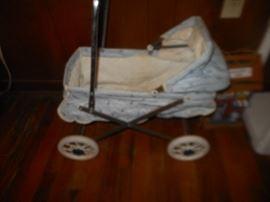 Vintage toy baby stroller
