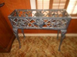 Iron Texas style planter box