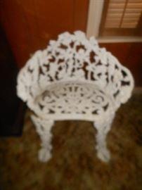 Heavy iron patio chair