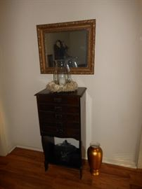 Antique record/sheet music cabinet