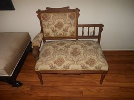 Eastlake antique settee