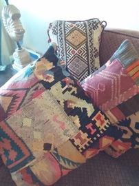 Hand woven Turkish Kim throw pillows