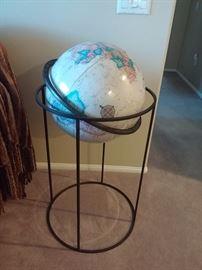 Iron Floor Stand Vintage Globe