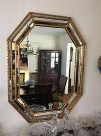 Beautiful octagonal mirror