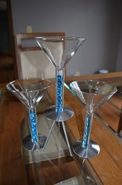 Signed, collectible martini glasses.