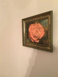 framed rose art