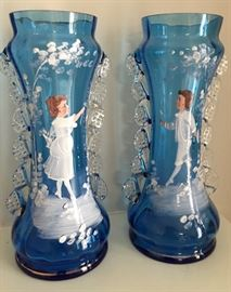 Mary Gregory Rigaree Vases