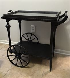 Very Nice Rolling Tea Cart (Removable Glass Top)