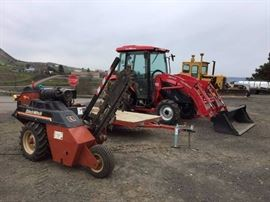 Ditch Witch, trailer, tractor