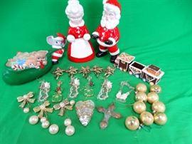 Christmas Decor Ceramic Mr. & Mrs. Claus & More