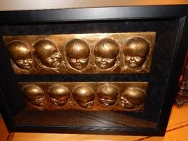 Plaster mold of the Dionne Quintuplets
