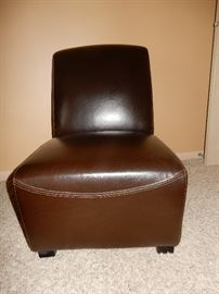 lovely leather slipper style chair