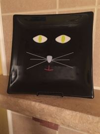 Handmade Stain glass black cat $125 *BUY IT NOW PAYPALL*