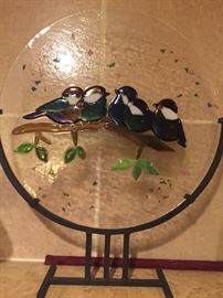 Handmade Stainless lovebirds $125 *BUY IT NOW*