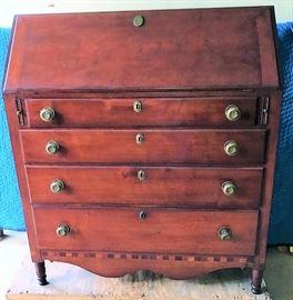 Cherry Drop Front Desk ca. 1830-40
