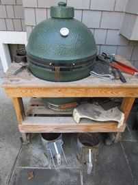 Big Green Egg! Just in time for all your summer cooking.