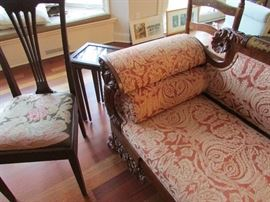 Highly Carved Victorian Sette.....near perfect