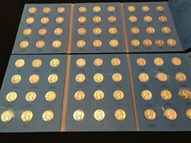 (2) Whitman Blue Book Coin Folders - Washington Quarters Volume 1 and 2.