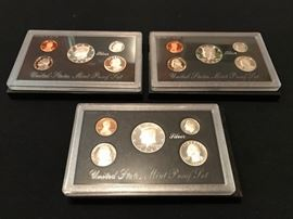 3) US Mint Silver Proof Sets including 1992, 1993, 1994
