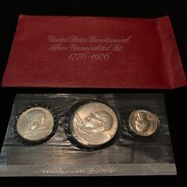 US Mint Bicentennial Silver Uncirculated Set