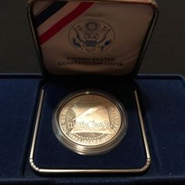 US Mint US Constitution Silver Coin in Box