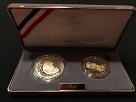 US Mint Mount Rushmore Anniversary Silver Coins in Box