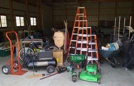 Craftsman compressor, Lawnboy, Michigan Ladder company