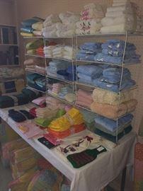 Sooooooo many sheets and towels