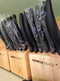Brand new Miracle Blade knife sets