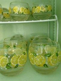 Lemon glasses in 2 sizes