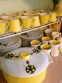Yellow and green dishes