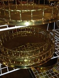 Handsome graduated-in-size brass trays