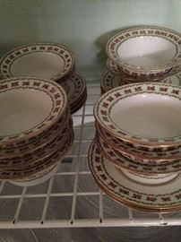 Limoges bowls and plates