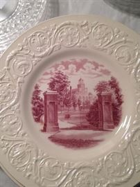 """Wedgwood plates of """"The Gate"""" of Randolph-Macon Woman's College"""